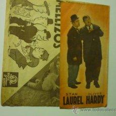 Cine: PROGRAMA DOBLE CON PUBLICIDAD DOS PARES DE MELLIZOS - S.LAUREL - O.HARDY. Lote 36715660