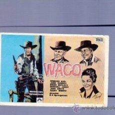 Cine: PROGRAMA DE CINE. SIN PUBLICIDAD. WACO. GRAFESA, LEON. . Lote 36706483