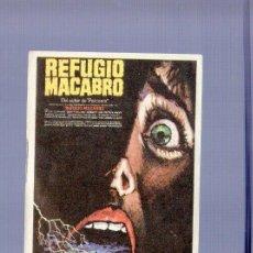 Cine: PROGRAMA DE CINE. SIN PUBLICIDAD. REFUGIO MACABRO. . Lote 122615655
