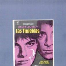 Cine: PROGRAMA DE CINE. SIN PUBLICIDAD. ROMEO, JULIETA Y LAS TINIEBLAS. GRAFICAS BOBES, BARCELONA. . Lote 36722781