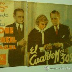Cine: PROGRAMA DOBLE EL CUARTO Nº 309-FRANCHOT TONE.-PUBLICIDAD. Lote 36748612