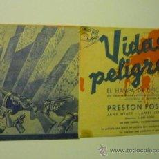 Cine: PROGRAMA DOBLE VIDAS EN PELIGRO -PRESTON FOSTER. Lote 36752016