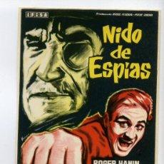Cine: NIDO DE ESPIAS, CON ROGER HANIN.. Lote 36784883