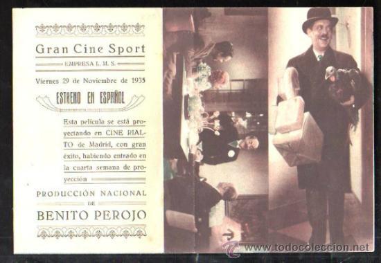 PROGRAMA DE CINE DOBLE. C/P. ES MI HOMBRE. GRAN CINE SPORT. EMPRESA L.M.S. CIFESA (Cine - Folletos de Mano - Comedia)