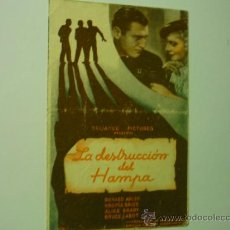 Cine: PROGRAMA DOBLE LA DESTRUCCION DEL HAMPA-RICHARD ARLEN- V.BRUCE. Lote 36838634