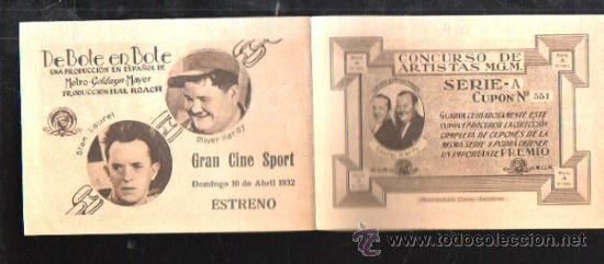 Cine: PROGRAMA DE CINE TRIPLE. C/P. DE BOTE EN BOTE. GRAN CINE SPORT. M.G.M. HUECOGRABADO PLANAS. - Foto 4 - 36826513