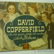 Cine: PROGRAMA DOBLE DAVID COPPERFIELD - PUBLICIDAD PRINCIPAL-ALCAZAR???. Lote 36884290