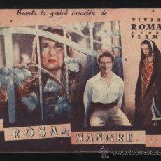 Cine: P-1490- ROSA DE SANGRE (DOBLE) (INTERIOR GRIS) VIVIANE ROMANCE - GEORGES FLAMANT. Lote 25583593