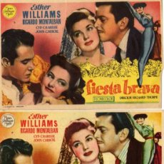 Cine: VARIACION - FIESTA BRAVA - ESTHER WILLIAMS - DOS PROGRAMAS . Lote 36890656