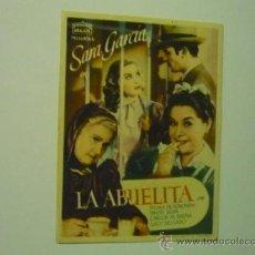 Cine: PROGRAMA LA ABUELITA.- SARA GARCIA .--ARAJOL. Lote 37001434