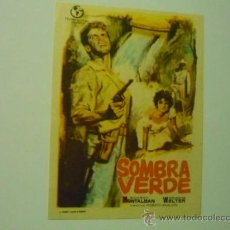 Foglietti di film di film antichi di cinema: PROGRAMA SOMBRA VERDE.- RICARDO MONTALBAN. Lote 37001588