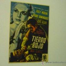 Cine: PROGRAMA TIERRA BAJA .-ZULLY MORENO -PEDRO ARMENDARIZ. Lote 37002196