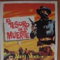Cine: FOLLETO DE MANO EL TESORO DE LA MUERTE 1964. Lote 37019839