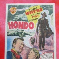 Cine: PROGRAMA GRANDE - HONDO- JOHN WAYNE - DETRAS CINE ROCH -ALCAÑIZ. Lote 37025231