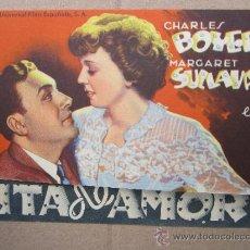 Cine: PROGRAMA DOBLE - CITA DE AMOR - -CHARLES BOYER - IDEAL CINEMA - BENICARLO. Lote 37035573