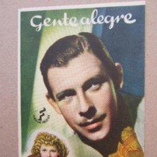 Cine: GENTE ALEGRE - DETRAS IDEAL CINEMA - BENICARLO. Lote 37036229