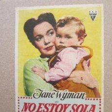 Cine: NO ESTOY SOLA - DETRAS - CINE CAPITOL - BENICARLO 1953. Lote 37036263