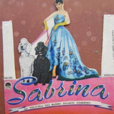 Cine: PROGRAMA TROQUELADO , SABRINA - HUMPHREY BOGART , AUDRY HEPBURN - SALA EDISON , FIGUERAS 1954. Lote 37058439