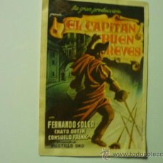 Foglietti di film di film antichi di cinema: PROGRAMA EL CAPITAN BUEN REVES.- FERNANDO SOLER. Lote 37061060