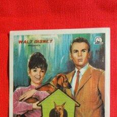 Cine: LOS PERROS DE MI MUJER, WALT DISNEY, IMPECABLE SENCILLO 1971, CON PUBLICIDAD CAPITOL. Lote 37068942