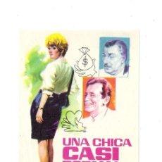 Cine: UNA CHICA CASI FORMAL PROGRAMA ORIGINAL DE MANO LISELOTTE PULVER-ALBERTO DE MENDOZA / JANO. Lote 37099058