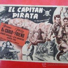Cine: EL CAPITAN PIRATA - PROPAGANDA PARA UN CONCURSO , , VER REVERSO . PROGRAMA GRANDE. Lote 37114461