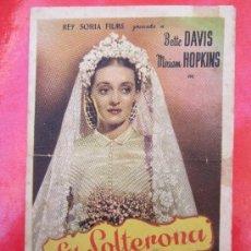Cine: LA SOLTERONA - BETTE DAVIS - CINE ESPAÑOL CAMBRILS - TARRAGONA. Lote 37115753