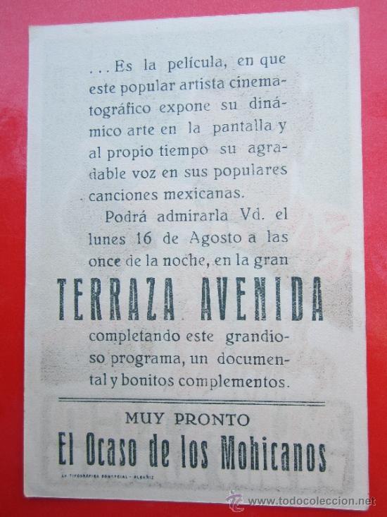 Cine: mexico de mis amores - jorge negrete - detras terraza avenida - alcañiz - Foto 2 - 37167803