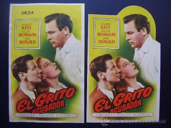 EL GRITO ACUSADOR, HOWARD KEEL, VARIANTE (Cine - Folletos de Mano - Drama)