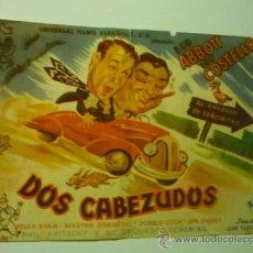 Cine: PROGRAMA DOS CABEZUDOS.--ABBOT Y COSTELLO. Lote 37242324
