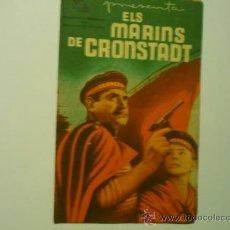 Flyers Publicitaires de films Anciens: PROGRAMA DOBLE 1937 -ELS MARINS DE CRONSTADT -LAYA FILMS--SELLO TAMPON CINEMA MODERN. Lote 37242553