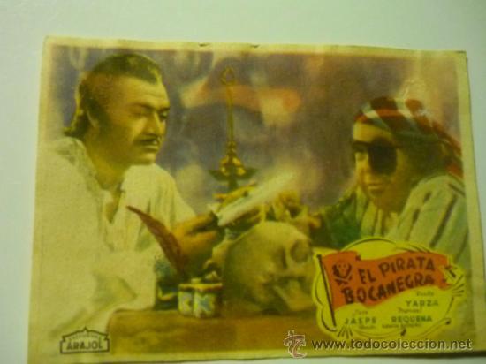 PROGRAMA EL PIRATA BOCANEGRA- ARAJOL (Cine - Folletos de Mano - Aventura)