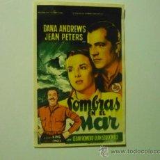 Cine: PROGRAMA SOMBRAS EN EL MAR.- DANA ANDREWS. Lote 37242994