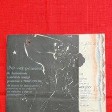 Cine: EL BAILARIN PIRATA, DOBLE 1938, CHARLES COLLINS FRANK MORGAN, CON PUBLICIDAD CASAL DEL POBLE. Lote 37280840