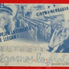 Cine: SIGAMOS LA FLOTA, DOBLE 1940, FRED ASTAIRE GINGER ROGERS, CON PUBLICIDAD. Lote 37280977