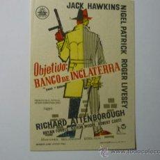 Cine: PROGRAMA OBJETIVO: BANCO DE INGLATERRA - JACK HAWKINS. Lote 37300132