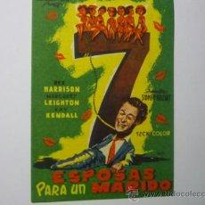 Cine: PROGRAMA 7 ESPOSAS PARA UN MARIDO .- REX HARRISON. Lote 37307716