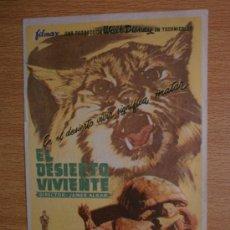 Cine: EL DESIERTO VIVIENTE.. Lote 37352335