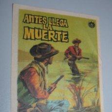 Cine: ANTES LLEGA LA MUERTE WESTERN - CINEMASCOPE. Lote 37352793