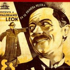 Cine: ES MI HOMBRE , TAMAÑO FOLIO , 1939 , CIFESA , BENITO PEROJO , ORIGINAL, S1986. Lote 37354277
