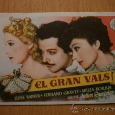 Foglietti di film di film antichi di cinema: EL GRAN VALS.. Lote 37360251