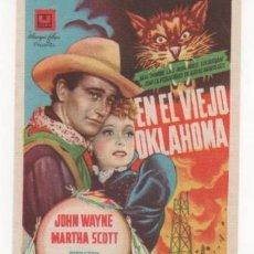 Cine: FOLLETO CINE: EN EL VIEJO OKLAHOMA. REVERSO CON SELLO DEL TEATRO GABRIEL Y GALÁN DE TRUJILLO.1949 . Lote 37455752