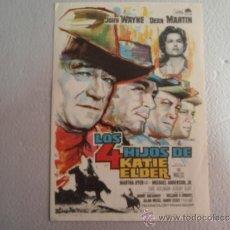 Folhetos de mão de filmes antigos de cinema: FOLLETO DE MANO LOS CUATRO HIJOS DE KATIE ELDER. Lote 37403620