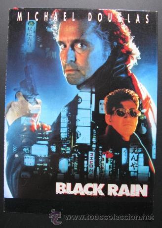 PROGRAMA DE BLACK RAIN (Cine - Folletos de Mano - Acción)