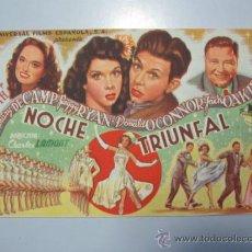Cine: PROGRAMA DE CINE - NOCHE TRIUNFAL - 1944 . Lote 37425830