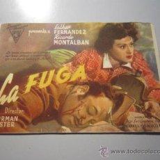 Cine: PROGRAMA DE CINE - LA FUGA - 1943. Lote 37445150