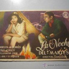 Cine: PROGRAMA DE CINE - LA NOCHE DEL MARTES - 1945 . Lote 37445326