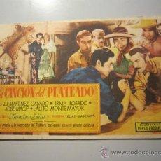Cine: PROGRAMA DE CINE - LA CANCIÓN DEL PLATEADO - 1941 - DOBLADO 2 VECES. Lote 37445535