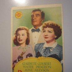 Cine: PROGRAMA DE CINE - DESCONFIANZA - 1946 - DOBLADO. Lote 37464338