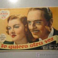 Cine: PROGRAMA DE CINE - TE QUIERO OTRA VEZ - 1940 . Lote 37478862